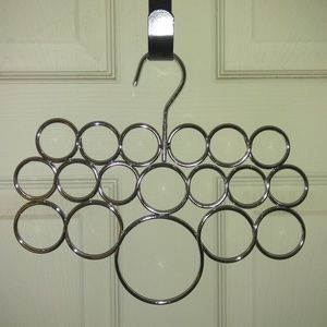 Silver Scarf Multi Size 18 Hole Hanger